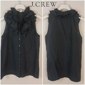 J. Crew | Black Silk Sleeveless Blouse [Tops]